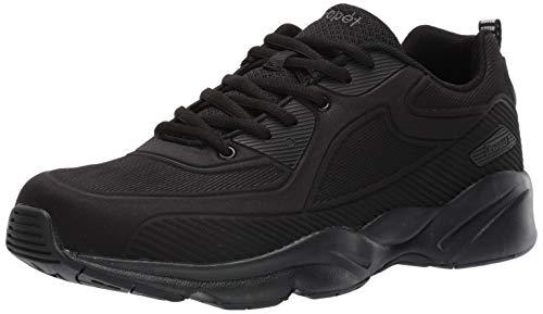 Propet Men's Stability Laser Sneaker, Black, 12 E US