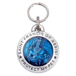 Pup Life Personalized Dog Tag with Engraving - St Francis of Assisi (Regular Blue)
