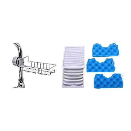 ZRNG 2X Aspirateur Filtre HEPA Filtre + 3XSet Filtre Coton Fit for Samsung Sc4300 Blanc Vc-B710W et 1x réglable Robinet Drai