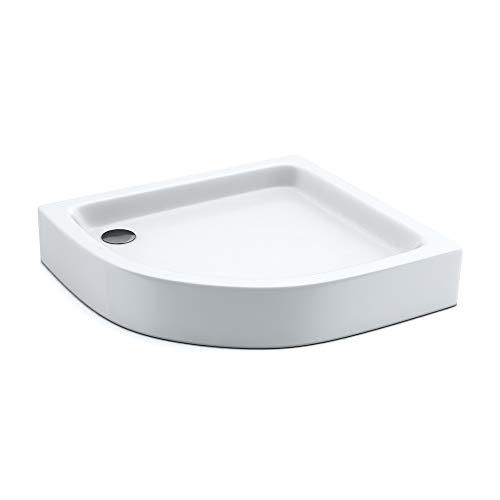 AQUABAD® Duschwanne Comfort Forta Plus 90x80cm R55 Viertelkreis Asymmetrisch Rechstversion