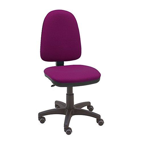 La Silla de Claudia - Silla giratoria de escritorio Torino magenta para oficinas y hogares ergonómica con ruedas de parquet