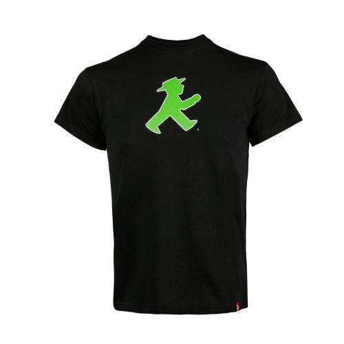 "AMPELMANN - Camiseta infantil con texto en alemán ""Prachtkerlchen Geher delante/de pie, color negro Negro L"