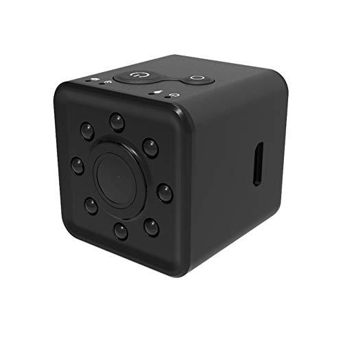 Calistouk, mini videocamera WIFI Full HD 1080p, impermeabile, visione notturna, 155 gradi, grandangolare di ripresa micro videocamera, nero