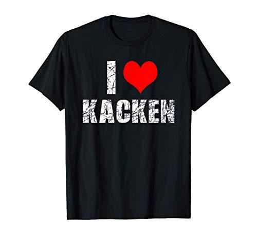 Ich Liebe Kacken I Love Kacken T-Shirt