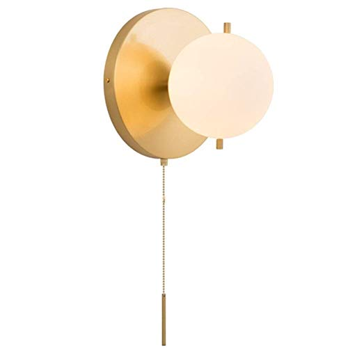 UWY Lámpara de Pared, lámpara de Noche para Dormitorio nórdico con Interruptor de tirón Lámparas de Pared Pasillo Iluminación Decorativa del Pasillo