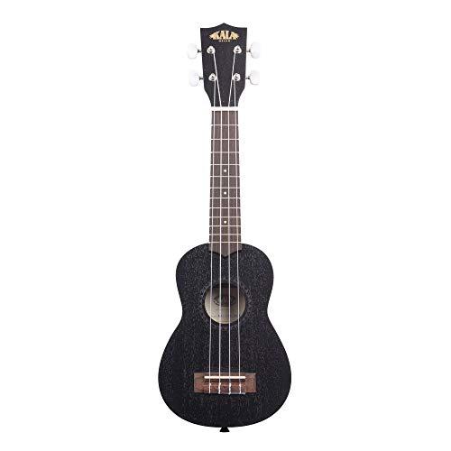KALA KA-15S BLK - Ukelele soprano (caoba, incluye funda), color negro