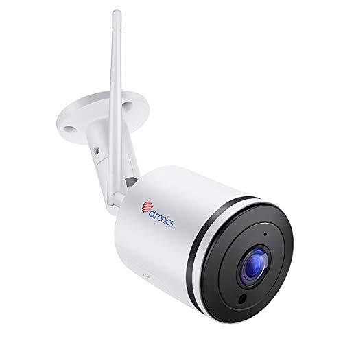 Ctronics Überwachungskamera Aussen WLAN IP Kamera Outdoor wifi HD 1080P mit 110 ° Weitwinkel Zwei-Wege-Audio 30m IR-Nachtsicht Bewegungserkennung IP65 Wasserdicht Fernzugriff