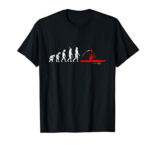 Kajak Evolution Kajakfahrer Kajaker Kayak Entwicklung T-Shirt