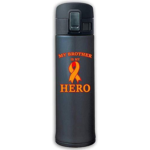 Like-like Leukämie Awareness4 Edelstahl vakuumisolierte Tasse - BPA frei - Sport-Trinkflasche mit Bounce-Abdeckung