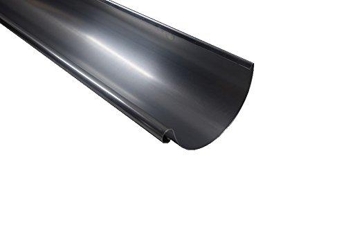 Dachrinne Titanzink 2 m lang in 3 Größen (mittel-7 TLG RG 125 NG 280)