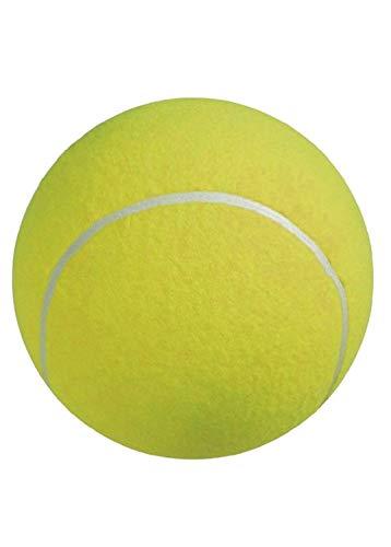 UEETEK 24CM Diámetro perro masticar juguete Pet Ball gigante pelota de tenis para perro de mascota grande jugando ejercicio