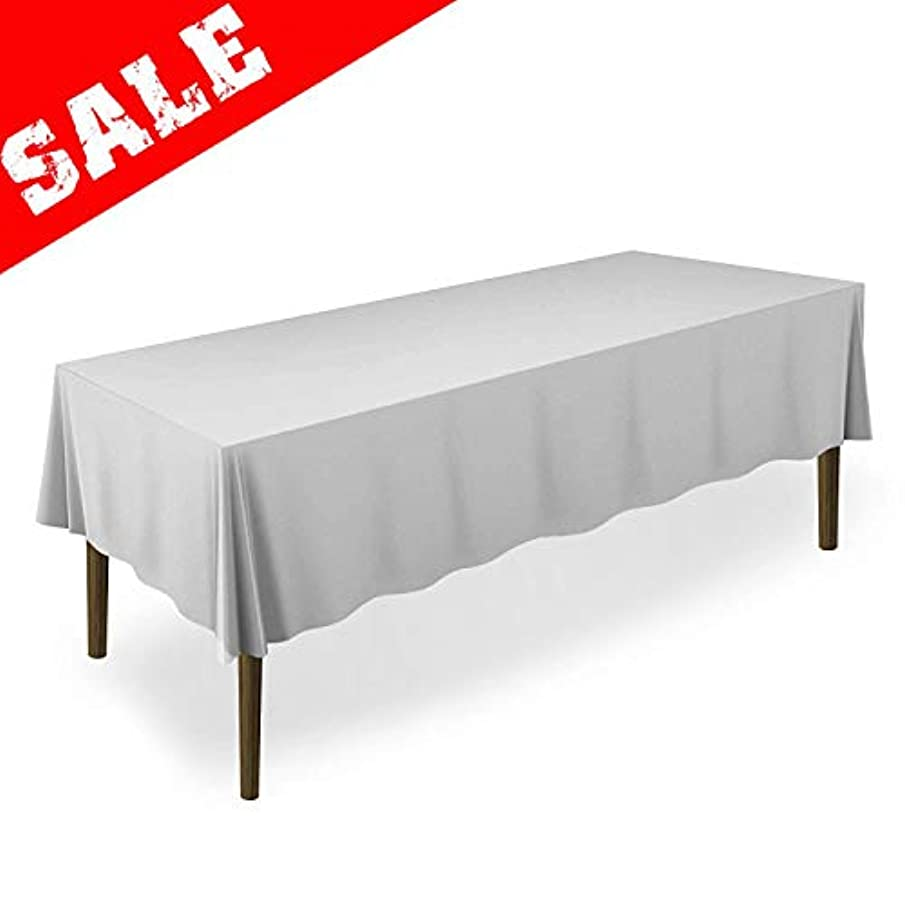 Salsell 5-Pack Disposable Plastic Tablecloths 54