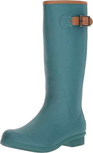 Chooka Women's Tall Memory Foam Rain Boot, Teal, 10 M US
