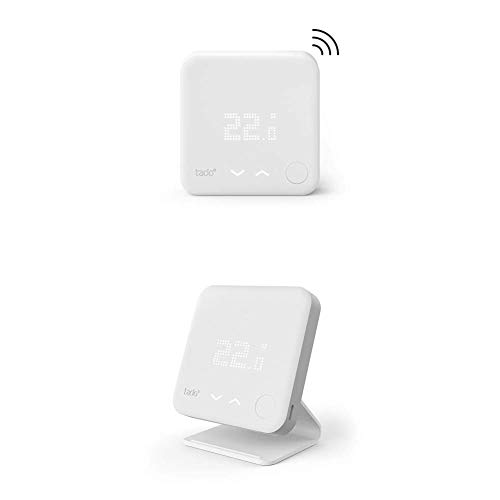 tado° Sensor de Temperatura Inalámbrico, un Accesorio para los Cabezales Termostáticos Inteligentes + Accesorio para el Termostato Inteligente Inalámbrico