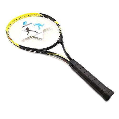 Raqueta de Tenis de aleación de Aluminio para Adultos, Raqueta de Tenis Ultraligera, Resistente a los Impactos, Adecuada para Deportes al Aire Libre