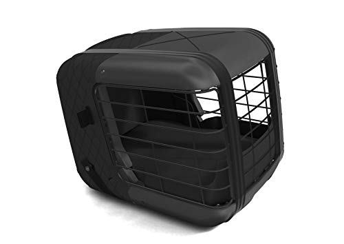 4pets Caree - Transportín de coche para perros (negro)