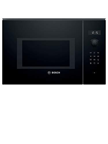 Bosch Serie 6 BEL554MB0 - Microondas integrable, 382 x 594 x 388 mm, Potencia 900 W, Con grill de 1200 W, 25 litros de capacidad, Color negro
