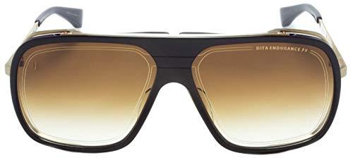 Dita Endurance 79 DTS-104 Gold & Schwarz Aviator Sonnenbrille mit braunem Objektiv