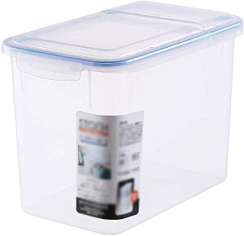 Contenedor de almacenamiento Rice Box Transparente de almacenamiento de arroz cubo de plástico sellada a prueba de insectos a prueba de humedad del arroz Cilindro de cocina Harina Cubo Contenedor de a