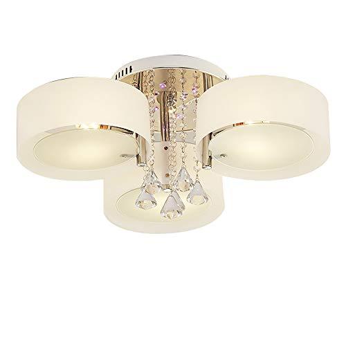 OUKANING Moderne LED Kristall Deckenleuchte Kronleuchter Deckenbeleuchtung Wohnzimmer Schlafzimmer E27