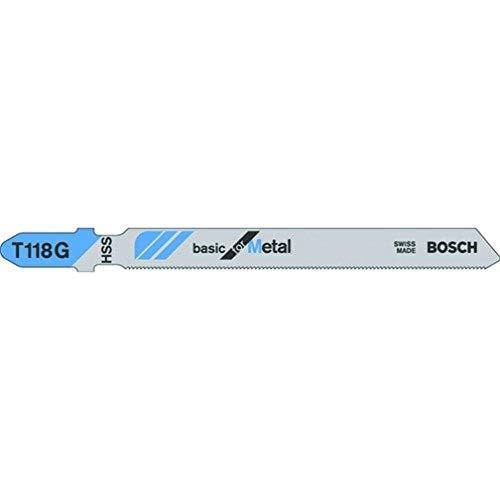 Bosch Professional Stichsägeblatt (5 Stück, für sehr dünne Bleche mit 0,5-1,5 mm, Zubehör für Stichsäge)