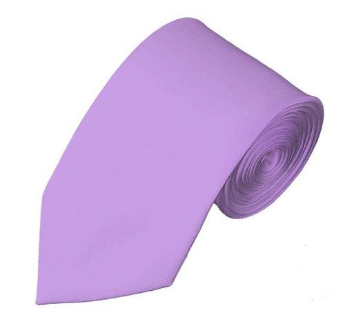 Mens Solid Color 2.75' Slim Tie - Lavender