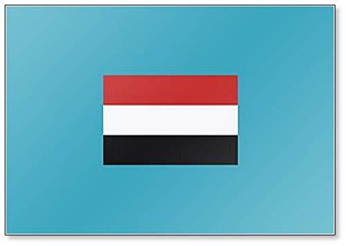 Kühlschrankmagnet, Motiv Jemen Flagge