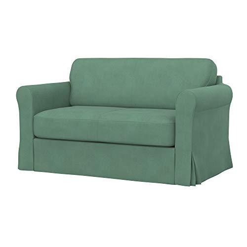 Soferia - Funda de repuesto para sofá cama IKEA HAGALUND, tela Majestic Velvet Mint