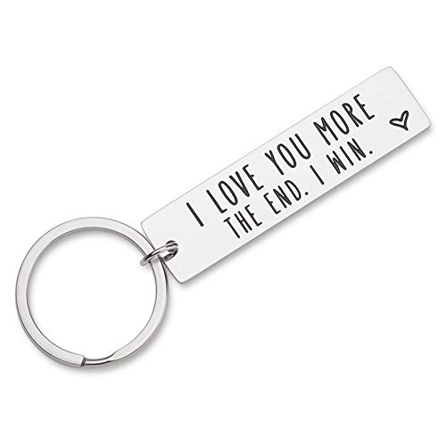Anniversary Gifts for Husband Wife Birthday I Love You Keychain Gifts for Girlfriend Boyfriend Couple Wedding Gifts from Wifey Hubby Valentine Day Gifts Key Chain for Him Her Presents