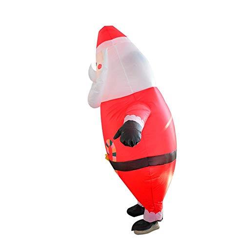 Disfraz hinchable de Papá Noel hinchable – Poliéster de alta densidad 190T impermeable al agua y divertido disfraz