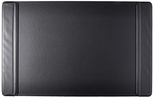 """Artistic 24""""x38"""" Sagamore Executive Designer Flip Side Panel Desk Pad, Ultra smooth Leather Like Writing Surface, Protects From Scratches & Spills , Black"""