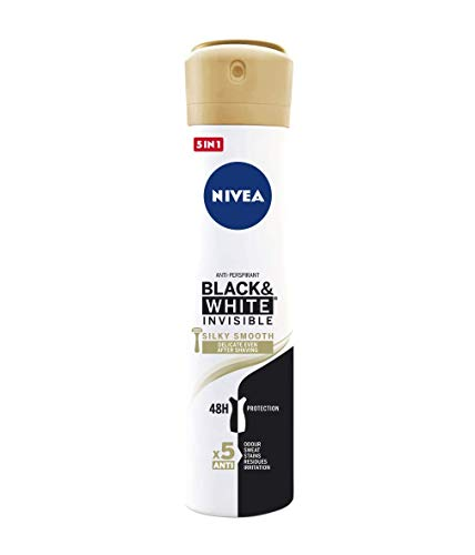 Nivea Black & White Invisible Silky Smooth Spray, Desodorante Antitranspirante, 200ml