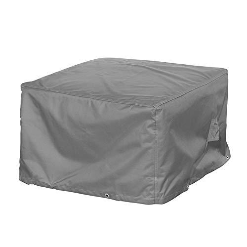 Mehr Garten Loungehocker Schutzhülle, Premium Abdeckung für Gartenhocker Loungemöbel Abdeckplane wasserdicht 85 x 85 x 45 cm Lichtgrau