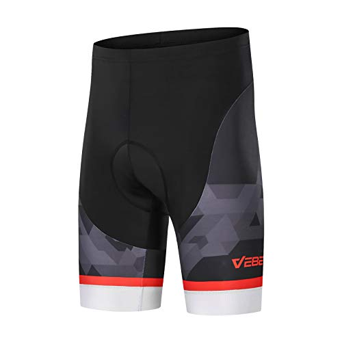 VEBE Men#039s Cycling Shorts 8D Gel Padded Mountain Bike Bicycle Biking TightFitting Riding PantsBlack3XL