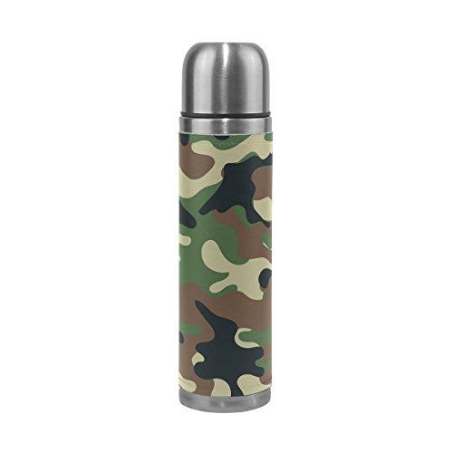 FFY GO Mug de Voyage en Acier Inoxydable Camouflage étanche Bouteille Isotherme 500 ML