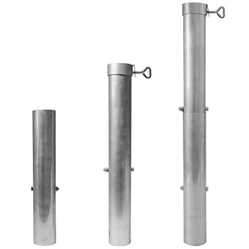 DELSCHEN Aluminium Bodenhülse 60 mm Durchmesser für Sonnenschirme bis ø 58 mm Stammdicke– Art. 8651-049-301