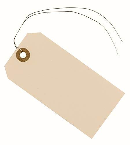 Hängeetiketten mit Draht konfektioniert 60x120 mm, 100 Stück, Anhänger Etiketten, Hängeetiketten konfektioniert, Anhängeschilder, Kartonetiketten, Pappanhänger