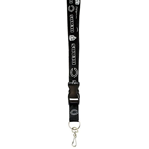 Pro Specialties Group NFL Chicago Bears Two Tone Lanyard, Dark Navy/Orange, One Size