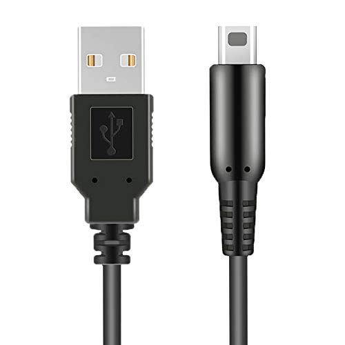 3DS USB Charger Cable, Power Charging Lead for Nintendo New 3DS XL/New 3DS/ 3DS XL/ 3DS/ New 2DS XL/New 2DS/ 2DS XL/ 2DS/ DSi/DSi XL Black