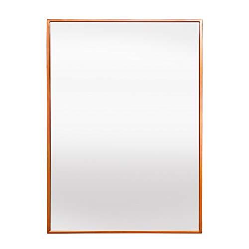 Elegance by Casa Chic – Gran Espejo de Pared Metálico – 70 x 50 cm – Metal Galvanizado – Oro Rosa