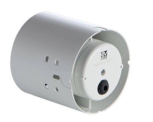 Vortice 11110 Aspiratore Elicoidale Punto Ghost Condotti, plastica, Bianco