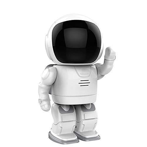 MMLONE 1080P HD Inteligente Cámara de monitoreo de Robot doméstico 2 Millones de WiFi inalámbrico con Tarjeta de Memoria 64G Seguimiento automático Vigilancia del Monitor de Video para bebés