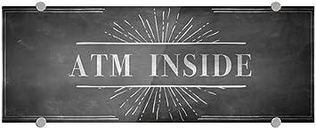 ATM Inside 8x3 5-Pack CGSignLab Chalk Burst Premium Acrylic Sign