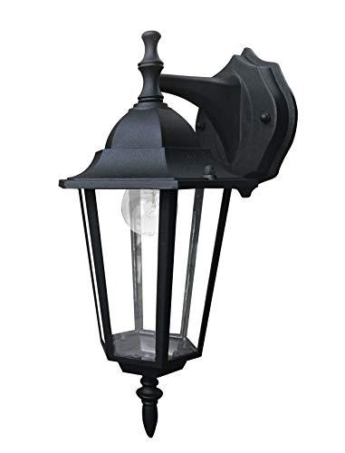 Fan Europe Milano LANT/AP1B Lanterna Applique per Esterno E27, 40 W, Nero, 37x21