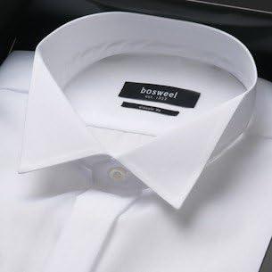 Bosweel Camisa para hombre para esmoquin, camisa de hombre, camisa de esmoquin, camisa de traje, camisa blanca, cuello de pitillo, boda, ocasión