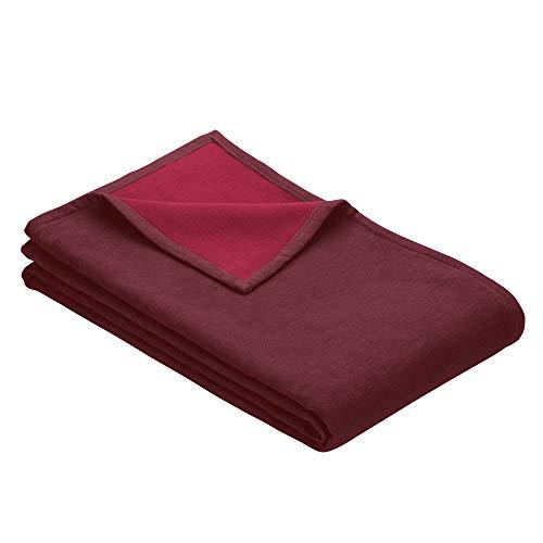 Ibena Stockholm Baumwolldecke 140x200 cm – Kuscheldecke rotbraun rot, 100% Reine Baumwolle, hochwertige Qualität Made in Germany