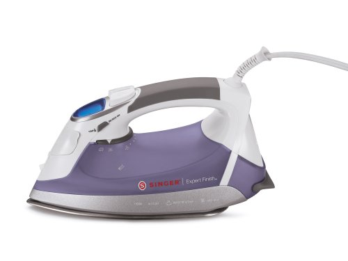 Big Sale SINGER Expert Finish 1700 Watt Anti-Drip Steam Iron with Brushed Stainless Steel Soleplate, LCD Electronic Settings and Smart Auto-Off