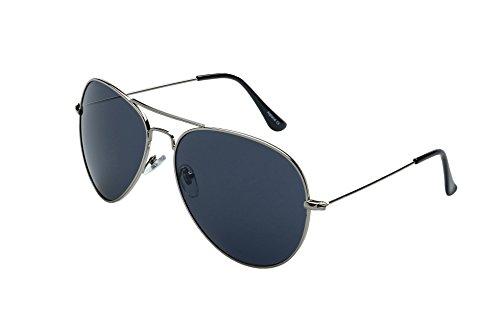 Alpland Pilotenbrille Cop Brille Modell - MAGNUM BLACK -