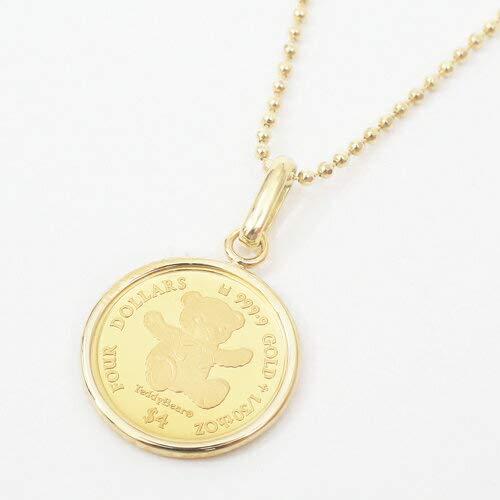 純金 コイン ペンダント 1/30 オンス テディべア エリザベス女王 フセコミ枠
