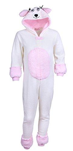 Mädchen CREME Pudel Pajamas Schlafanzüge / Overall / Kostüm / Onesie (3 Jahre 98 cm)